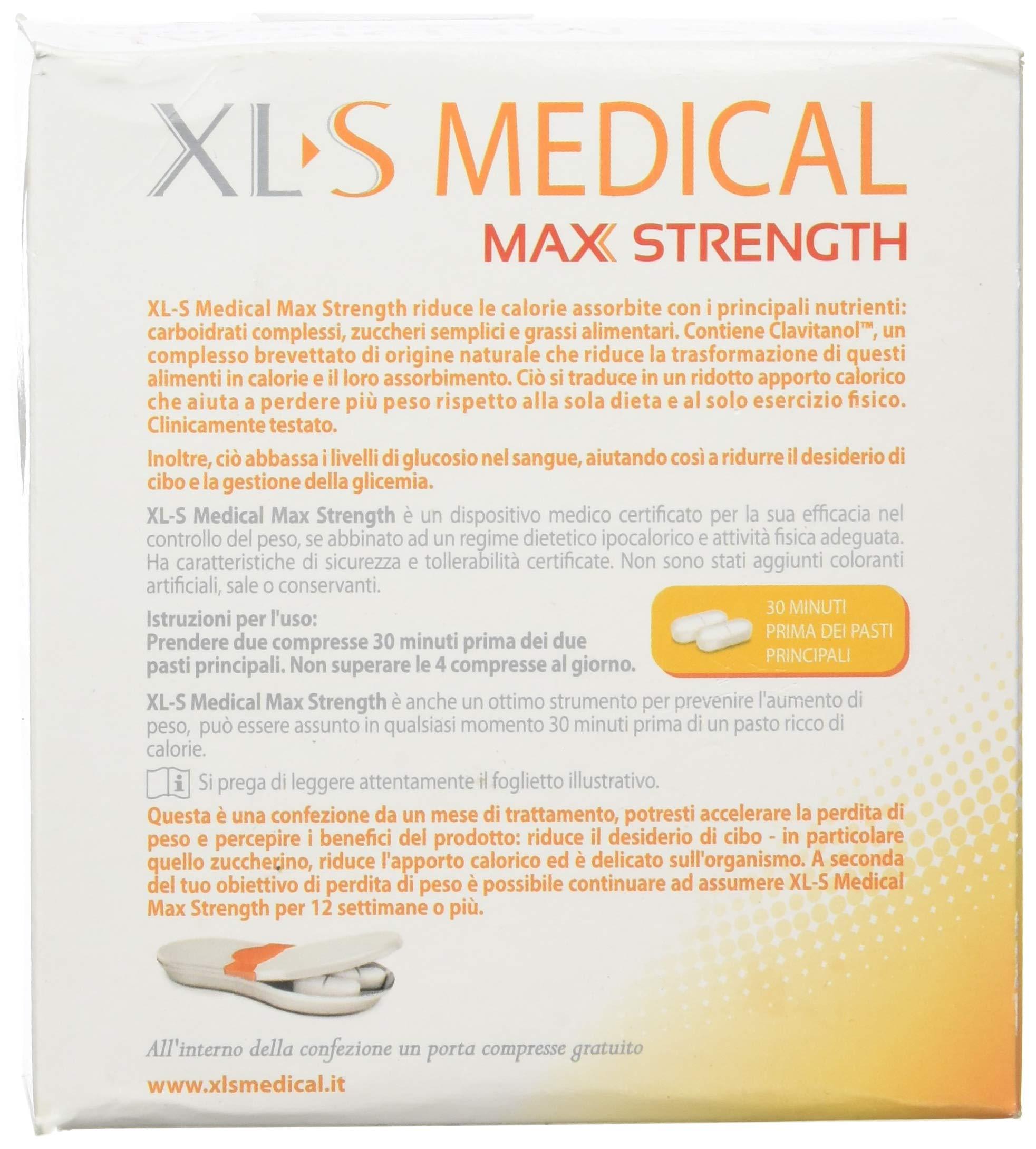XL-S MEDICAL Max Strength Tripla Azione Trattamento Dimagrante Forte, Pastiglie Dietetiche per una Gestione Ottimale del… 4 spesavip