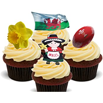12th Birthday Rugby Themed Precut Edible Cup Cake Toppers Decorations Boys Son