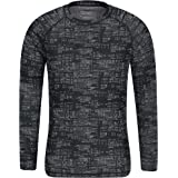 Mountain Warehouse Talus Mens Thermal Baselayer Top - Quick Drying Winter Jumper, Easy Care, Long Sleeves, Sweater, Breathabl
