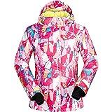 ELETOP Chaqueta de esquí para Mujer Chaqueta de Nieve a Prueba de Viento Impermeable Snowboarding Rain Coat