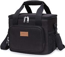 Lifewit 15L Kühltasche Picknicktasche Lunchtasche Mittagessen Tasche Thermotasche Kühltasche Isoliertasche für Lebensmitteltransport,Farbe: Grau
