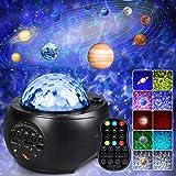 Projecteur Ciel Etoile, Lampe Etoile Projecteur Enfant Ciel Etoilé Led Projeter 10 Planètes avec Haut-Parleur Bluetooth Minut