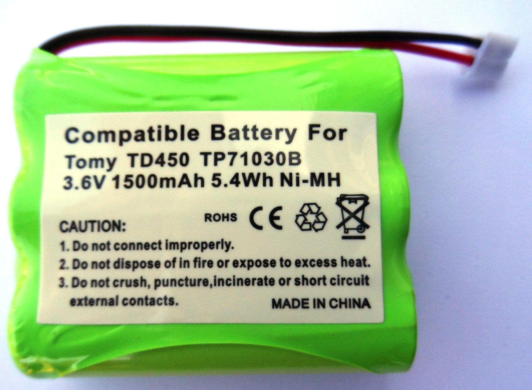 tp71030b batteria di ricambio per sistema di controllo digitale baby Tomy TD450/tdv450, Batteria Ri