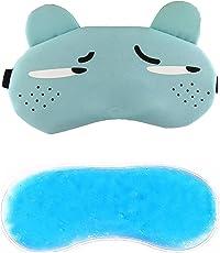 Jenna Ship Cartoon Polyester Ice Gel Eye Mask, Blue