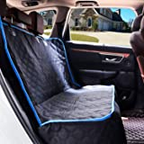 EZVOV Dog Car Seat Covers for Back Seat - Nonslip Bench Rear Seat Cover Protector for Dogs, Waterproof Pet Bench Seat Cover for Dogs with Universal Size Fits for Cars, Trucks & SUVs