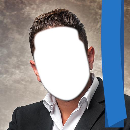 Montaje de la foto del peinado del hombre