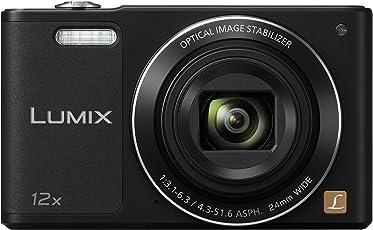 Panasonic LUMIX DMC-SZ10EG-K Style-Kompakt Digitalkamera (12x opt. Zoom, 2,7 Zoll LCD-Display um 180° schwenkbar,WiFi, HD-Videos, Bildstabilisator) schwarz