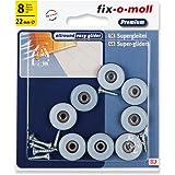 fix-o-moll Universal PTFE glijder met schroef 22 mm 8 stuks grijs, 3566106