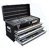 BGS 3318 gefüllt Metall-Werkzeugkoffer 3 Schubladen mit 143 Werkzeugen