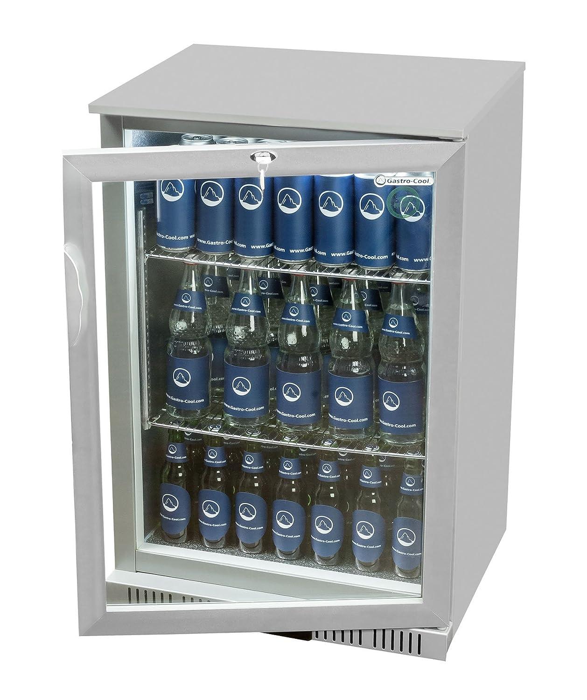 Glastür-Kühlschrank 90 x 60 x 52 cm schwarz   Getränkekühlschrank ...