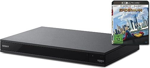 Sony 4K Ultra HD Blu-Ray Player UBP-X800 + Spiderman Homecoming 4K UHD BD Disc (UHD, High-Resolution Audio, Hi-Fi Qualität, Multi-Room, Bluetooth) Schwarz