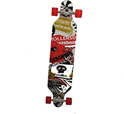 Longboard 41 LED DROP RACE ABEC 11 Rot LED Skateboard