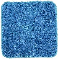 WohnDirect Tapis de Bain Bleu Clair • Sets modulables • Antidérapant, Absorbant et Doux • sans découpe WC, 45x45cm