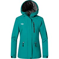 Wantdo Giacca da Sci Montagna Impermeabile Parka da Neve Calda Imbottita Invernale Cappotto da Sci con Cappuccio…