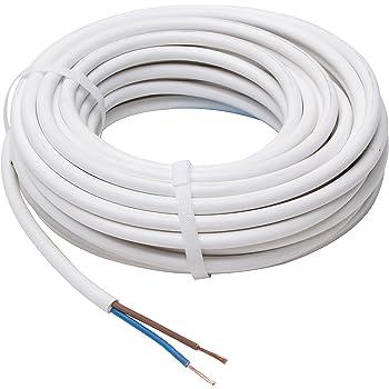 Kopp Schlauch-Leitung 3 adrig, H05 VV-F 3G1.5 mm² (10m) für flexible ...