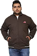 JOHN PRIDE Men Brown Coloured Jacket (Sizes: 3XL- 6XL)