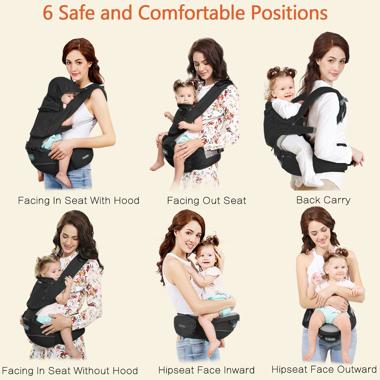 Windsleeping Baby /& Child Carrier Backpack 6-in-1 Detachable Natural Latex Sling