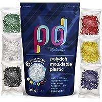 Plastica modellabile Polydoh + 6 confezioni gratuite di granuli coloranti (250g) [come polymorph, plastimake, instamorph…