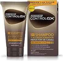 Just For Men Control GX Champú y Acondicionador Reductor de Canas - Tinte para las canas del pelo para hombres - 147 ml
