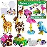 Perles à repasser Sephywans, 4450 Pcs 5mm 14 Couleurs Ensemble de perles de fer pour la fabrication d'artisanat pour enfants,