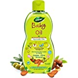 Dabur Baby Oil: Non - Sticky Baby Massage Oil with No Harmful Chemicals |Contains Jojoba , Olives & Almonds…