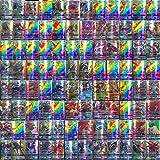 120-Delige Pokemon-Kaartenset, Gecoat Papier, Cartoon Game Card GX-Ruilkaarten voor Kinderen met 115 GX Pokemon-Kaarten en 5