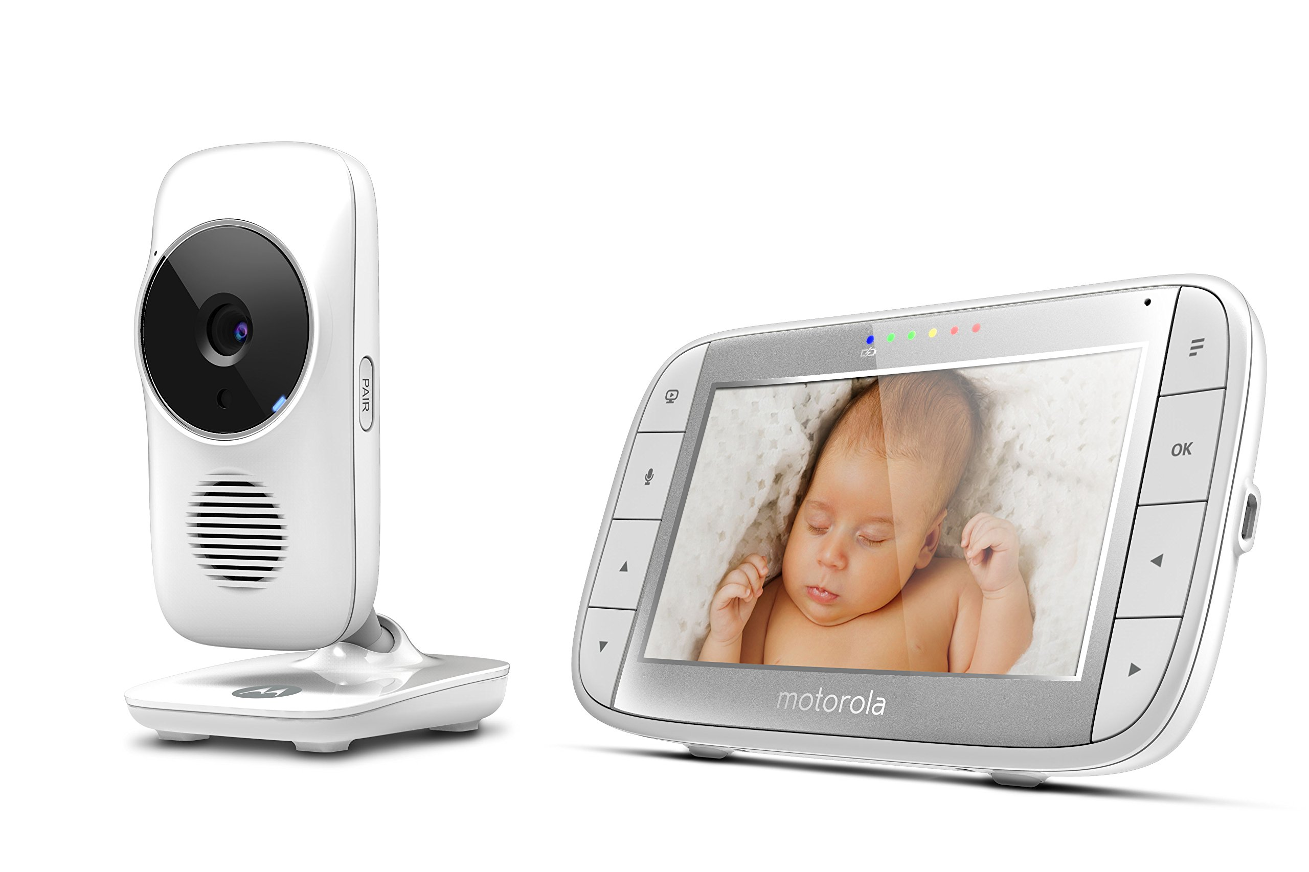 "Motorola MBP48 5 inch Video Baby Monitor Motorola Baby 5"" color display two-way communication Infrared night vision Room temperature monitoring 2"