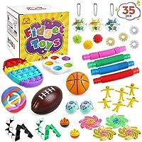 Gemeer Anti-Stress Pop Bubble Fidget Toys Sets,Jouets sensoriels à Presser en Silicone pour soulager Le Stress et l…