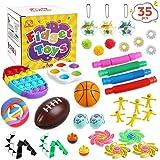 Gemeer Anti-Stress Pop Bubble Fidget Toys Sets,Jouets sensoriels à Presser en Silicone pour soulager Le Stress et l'anxiété,F