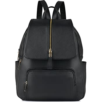 Women Backpack,COOFIT Leather Backpack Women for Girls Schoolbag Casual  Daypack School Backpacks Bag Satchel Black baca231d29