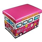 GMMH -Tabouret Love Bus Pliable Caisse à Jouets