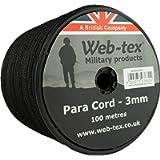 Web-tex Paracord 100 Metre Roll 3 Millimeters