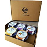 Halwa Craft Gourmet Box - Assortment of Sweets - Gift Box of 5 Cups of Premium Handcrafted Halwa of 100g Each