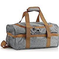 CampFeuer Picknicktasche für 4 Personen   Picknickset 20-teilig   grau   mit Seitenfächern, Geschirr und Besteck