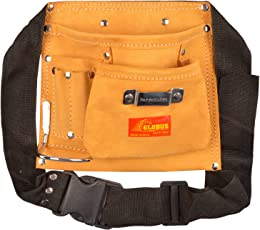 Globus Leather Tool Apron, 8.5x9Inches (Brown & Black)