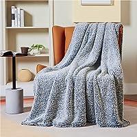 Bedsure Plaid Canape Couverture Polaire - Jete de Canape Sherpa Bleu Marine 130 x 150, Plaid Canapé 1 Personne Doux et…