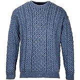 The Irish Store - Irish Gifts from Ireland Aran Woollen Mills Maglione Pullover Maglione Unisex Lavorato a Maglia 100% Lana M