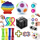 Fidget Toy, Fidget Toy Set per Antistress Adulti e Bambini, Fidget Toy Kit per Antistress da Scrivania, Fidget Toys Box per A