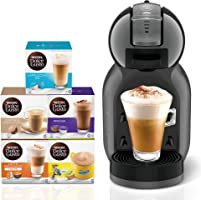 Nescafe Dolce Gusto Mini Me Coffee Machine, Black + 5 Capsule Boxes (80 Capsules)