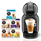 Nescafe Dolce Gusto Mini Me Coffee Machine plus 5 Capsule Boxes (80 Capsules) - Black