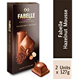 Fabelle Exquisite Chocolates - Hazelnut Mousee, Centre Filled Bars, 2 x 127 g