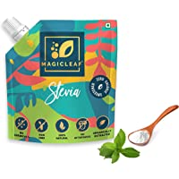 Magic leaf Stevia Sugar Free Powder (250g Spout Pack, Sweetens 125 cups) I Natural Sweetener I For Diabetics & Weight…