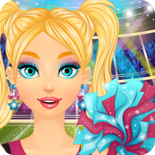 Cheerleader Salon: Spa, Makeup and Dress Up Girly Girl Makeover Games with Face Paint (Outfit Up Cheerleader Dress)