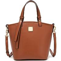 Handtasche Damen Lässige Tote Schultertasche Fashion Shopper Damen Ledertasche Braun