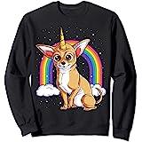 Chihuahua Unicorn Women Rainbow Dog Lover Gifts Space Galaxy Sweatshirt
