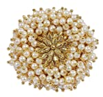 Shining Diva Fashion Gold Plated Ring for Women (Golden)(9733r)