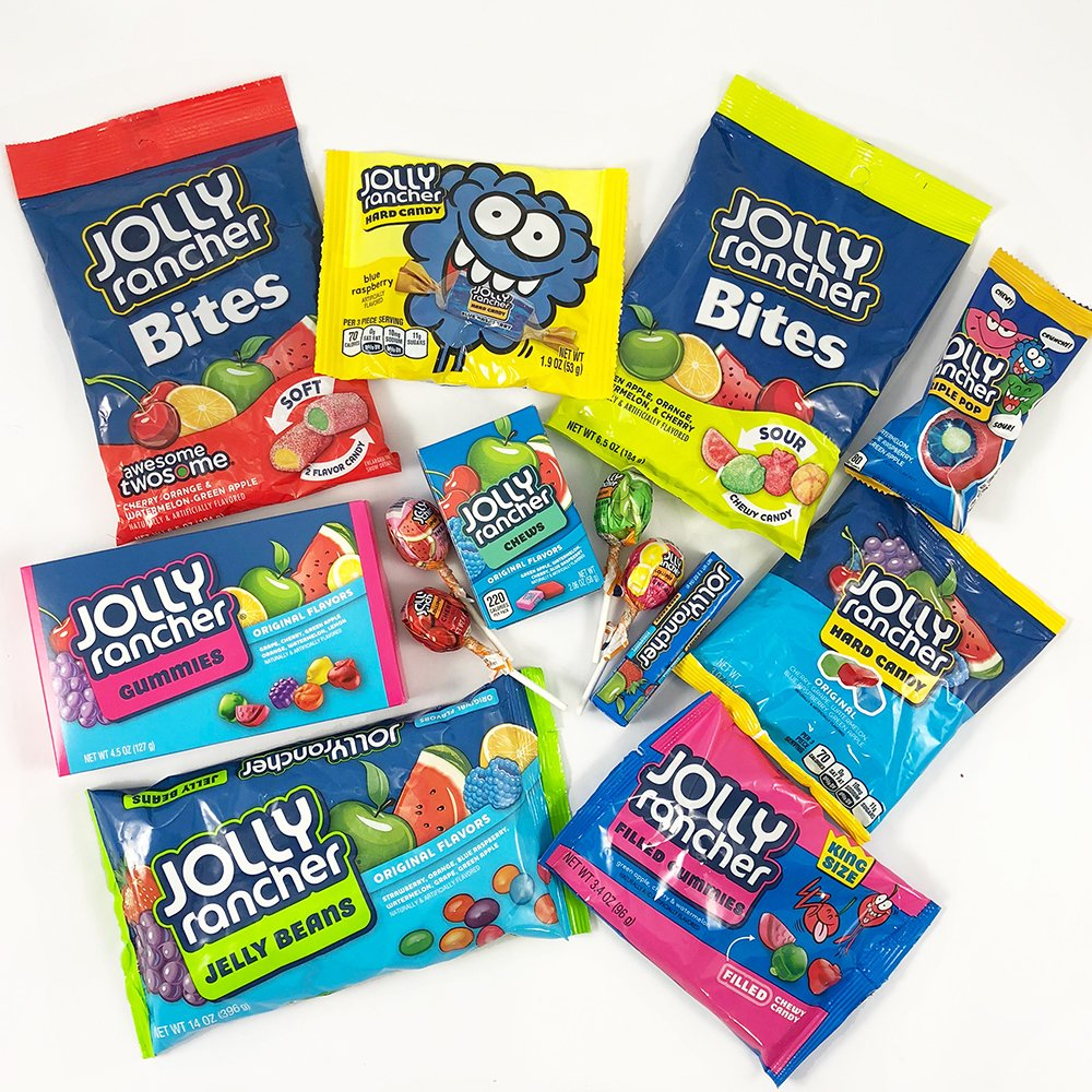 large american jolly rancher sweet hamper box includes