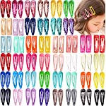88 Pieces 2 Inch Snap Hair Clips No Slip Metal Hair Clip Barrettes for Girls Toddlers Kids Women (44 Pairs)