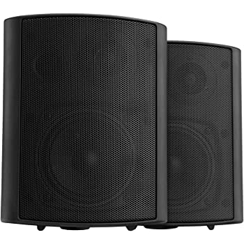 Pronomic USP-430 BK Pair ELA/HiFi Wall Speakers, black, 120 watts