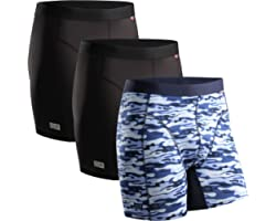 DANISH ENDURANCE Men's Sports Trunks Dry Fit Performance Boxer Brief 3 Pack, Breathable, Soft, Quick Dry, Odor Resistant, Bla